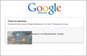Screenshot opţiunei de căutare pe Google