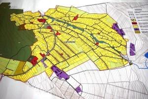 Planul urbanistic al localităţii Cetireni din raionul Ungheni. Sursa: Primăria Cetireni