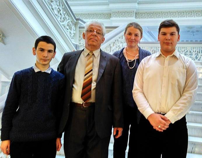 Cristian Gurali şi Dionisie Bahrin alături de Nicolae Arseni şi Carolina Dănilă