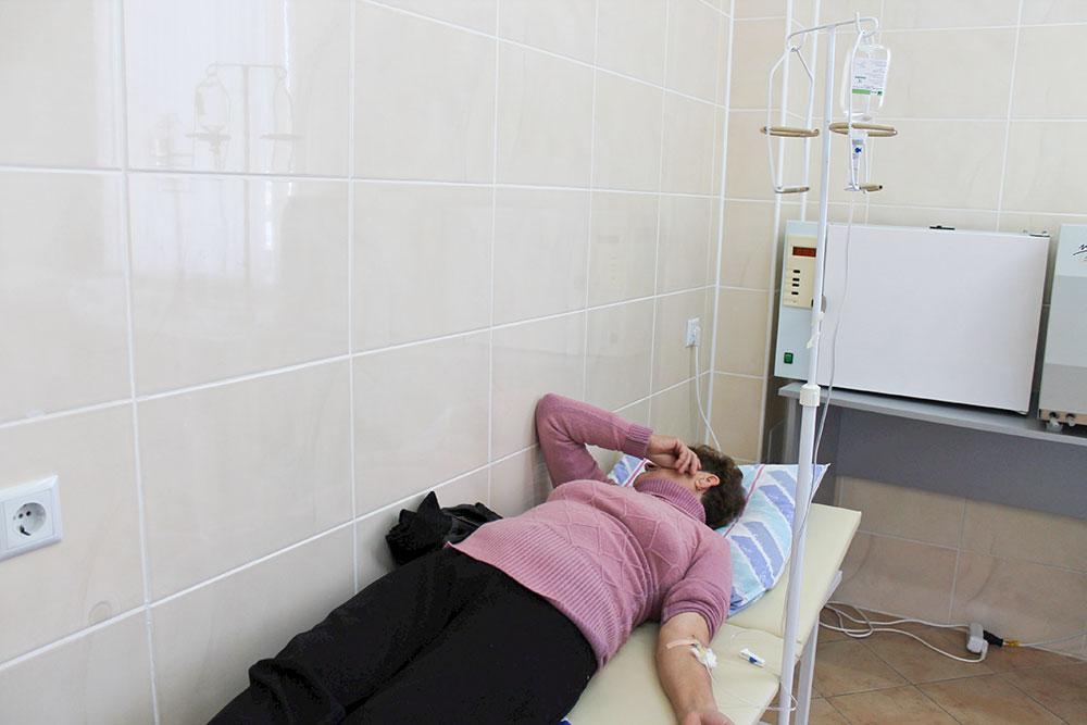 Instituţia medicală din Cocieri are şi un salon unde se fac perfuzii