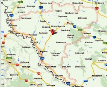 Harta raionului Ungheni