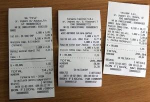 Bonurile de plată de la farmaciile date