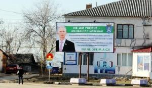 Banner publicitar de pe strada Naţională