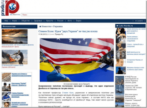 Screenshot de pe site-ul Pravda.ru