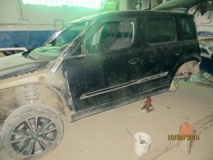 Maşina în reparaţii